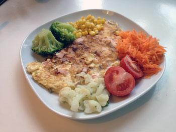 comida y alimentos para el almuerzo saludable