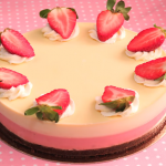 tarta chocolate blanco y fresa